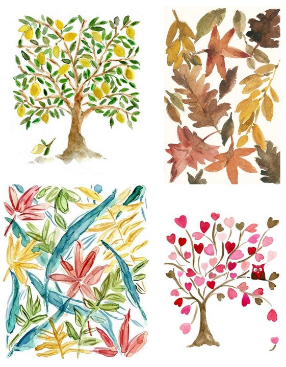 watercolor botanicals joy of color