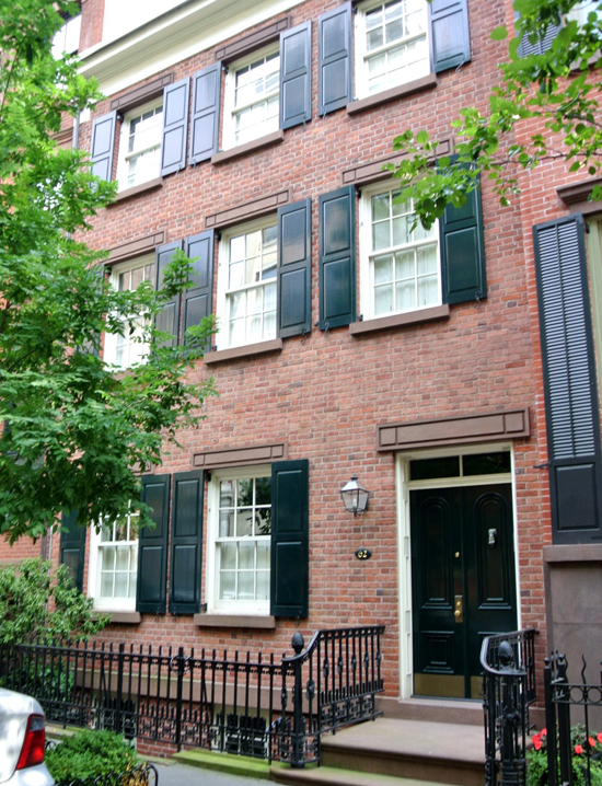 west village brick townhouse