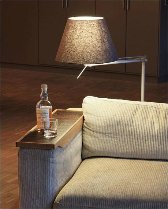 armrest tray table