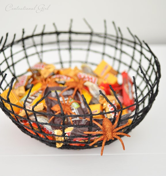 black twine spiderweb bowl