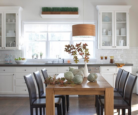 dining table in kitchen bhg