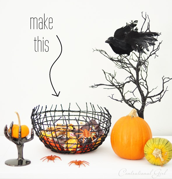 diy halloween treat bowl