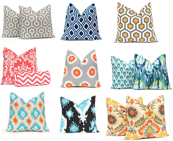 festive home decor toss pillows