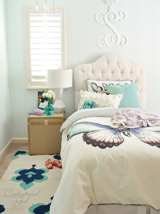 girls butterfly bedroom