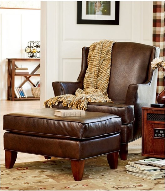 leather reading chair