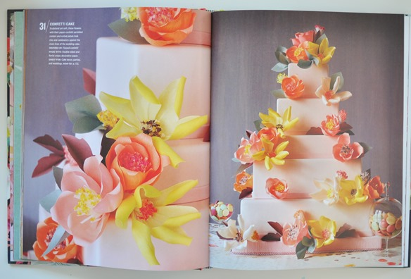 paper flowers on cake