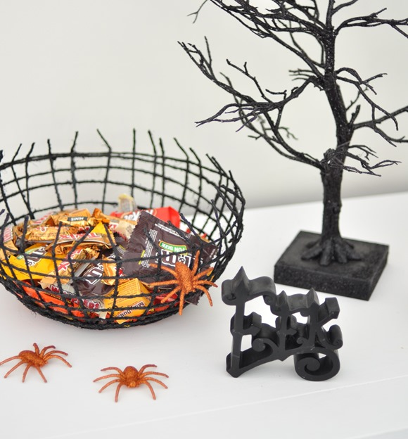 spiderweb halloween treat bowl