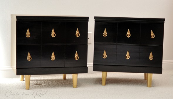 spray painted black chests