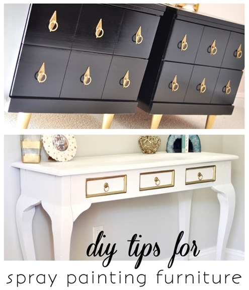 spray painting furniture diy tips
