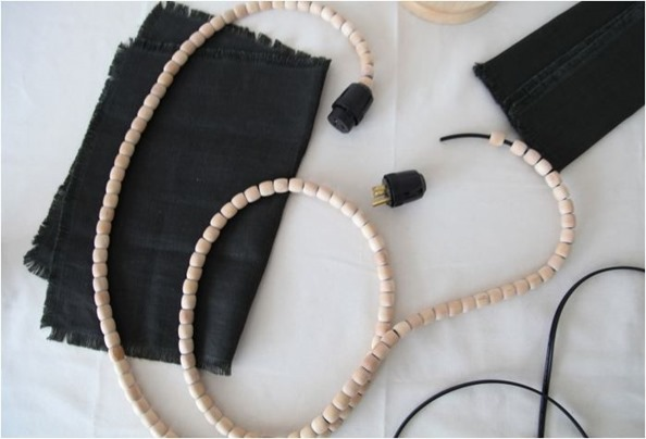 beaded electrical cord