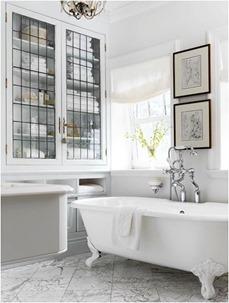 black white bathrooms