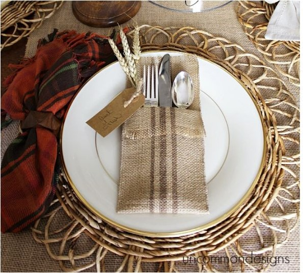burlap painted utensil holder uncommon designs