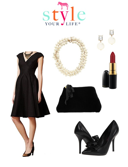 classic little black dress outfit