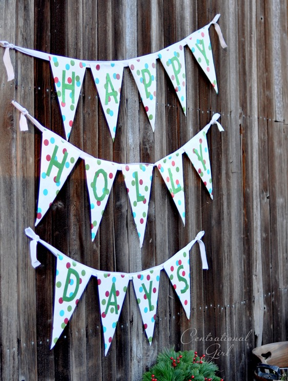wrapping paper bunting