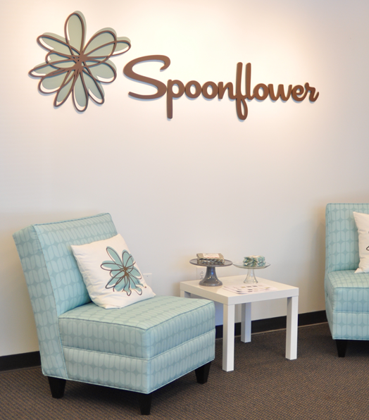 spoonflower headquarters slipper chairs