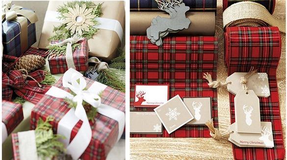 tartan christmas wrap