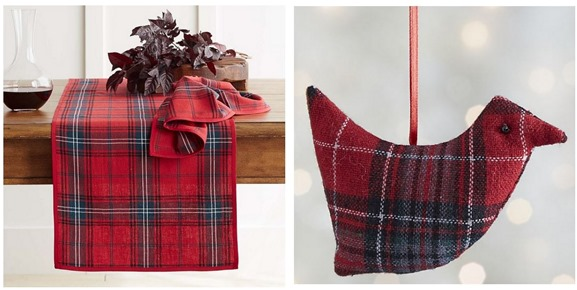 tartan holiday decor