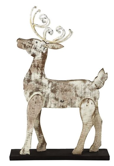 whitewashed reindeer