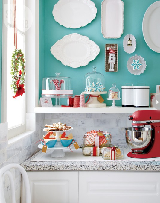 christmas kitchen counter styleathome