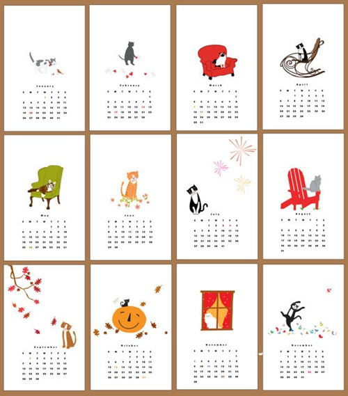 kitty cat calendar