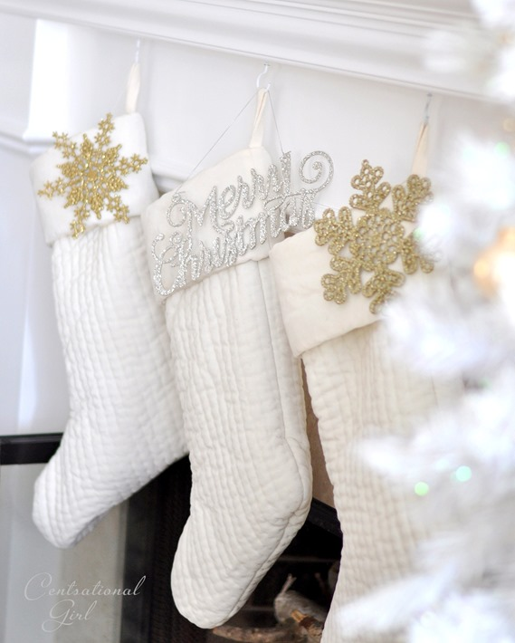 ornaments on stockings