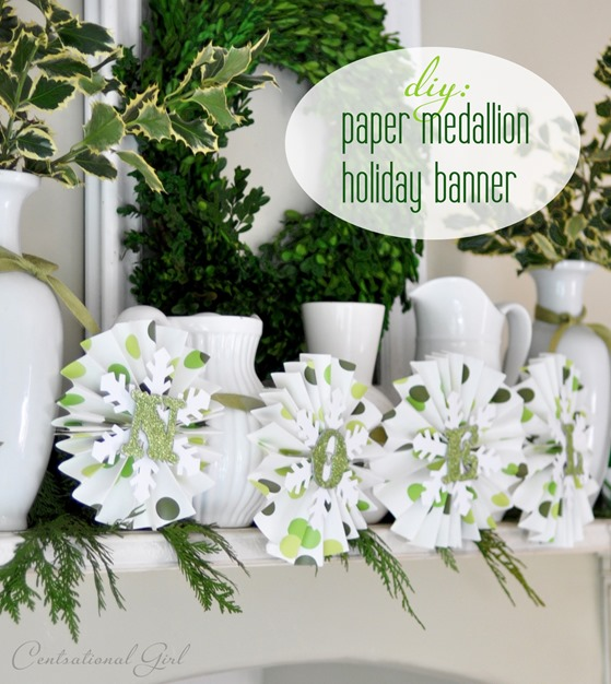 paper medallion holiday banner