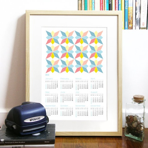 portugese tile calendar
