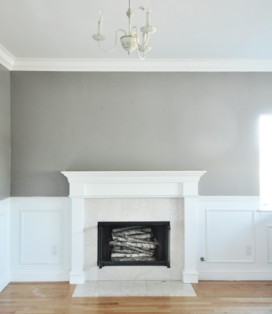 rockport gray walls and mantel
