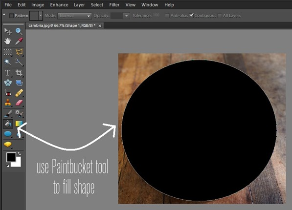 use paintbucket to fill