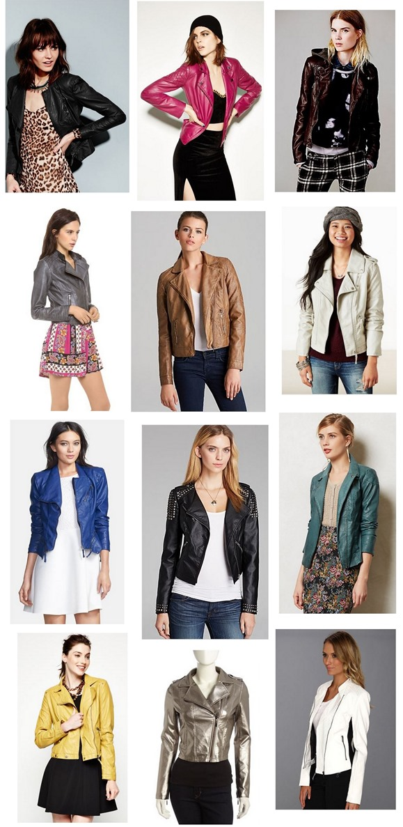 womens faux leather moto jackets