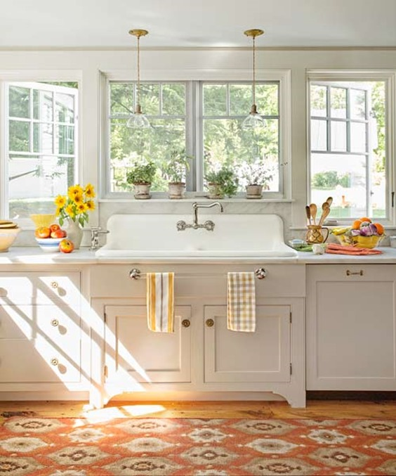 Kitchens With Windows And No Upper Cabinets