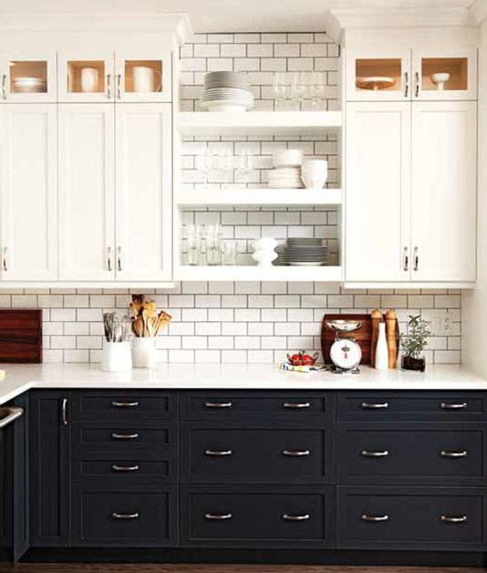 Tone Kitchen Design With Charcoal Gray Kitchen Cabinets White Kitchen