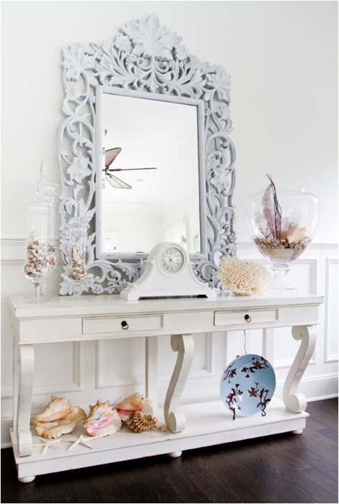 console with coastal accents