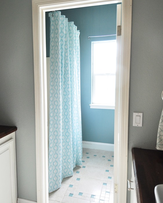 Bathroom Curtain Ideas Diy: DIY Lined Shower Curtain