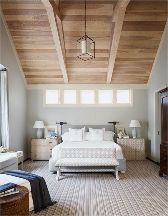 How to mismatch nightstands centsational girl Master bedroom with sloped ceiling
