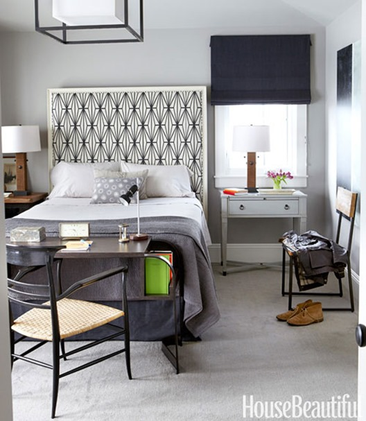 house beautiful mismatched nightstands