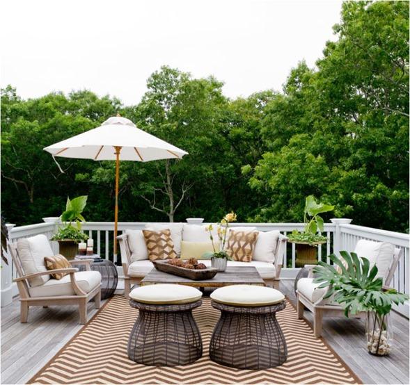 neutral furnishings on balcony