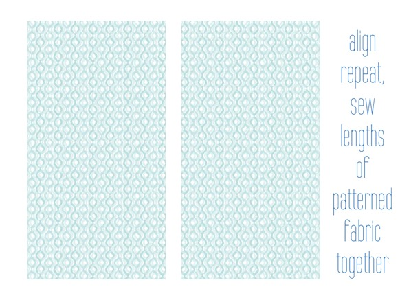 sew patterened fabric