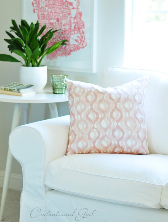 pillow cover with zipper enclosure