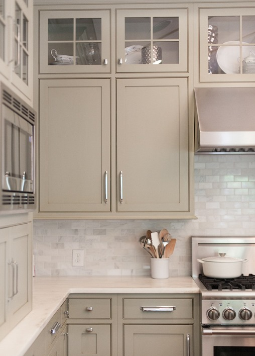 Neutral Painted Cabinets  Gray, greige, taupe, and gray greens offer