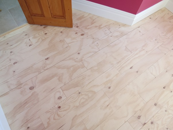 plywood plank floor
