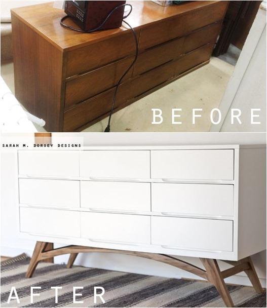 add legs to mid century dresser sarahdorsey
