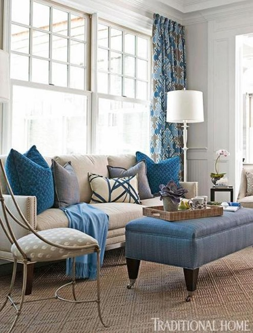 blue in hamptons showhouse traditional home