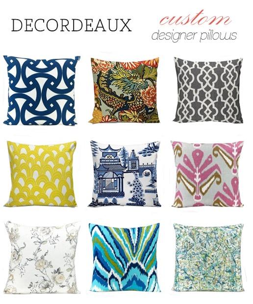decordeaux custom designer pillows