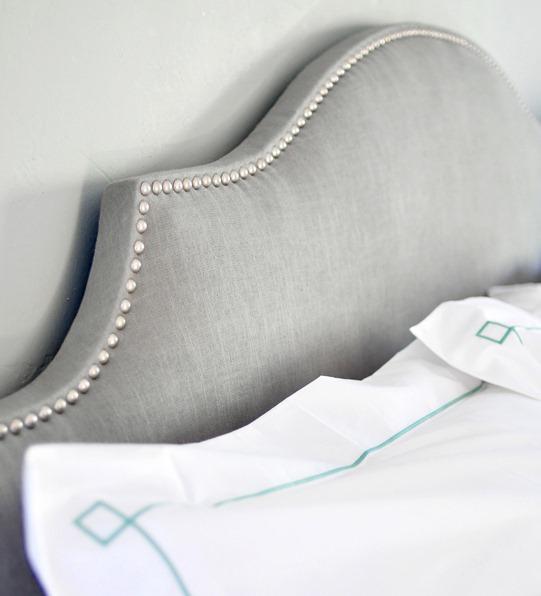 gray nailhead trim bed