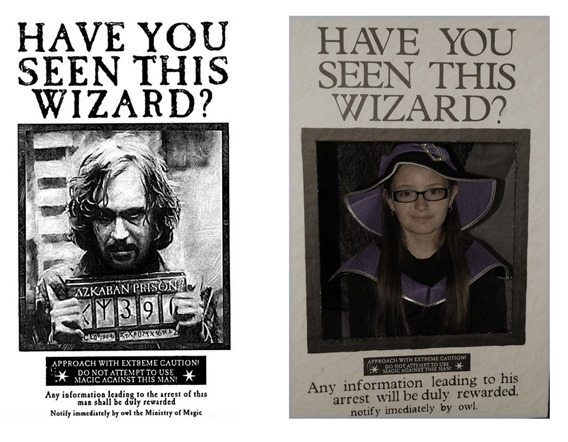 prisoner of azkaban wanted poster photo booth