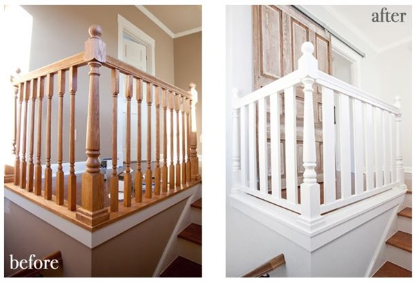 stairwell makeover lettered cottage