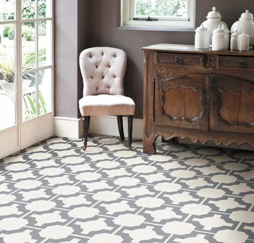 Pattern files geometric tile floors centsational style for Patterned linoleum tiles