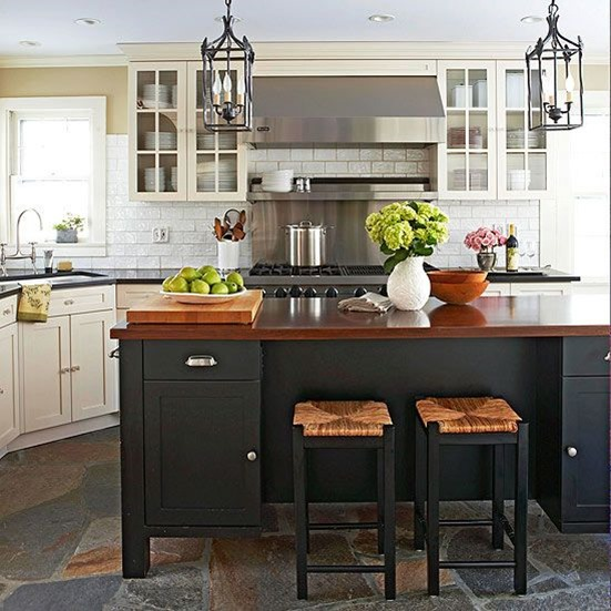 bhg wood kitchen island countertop