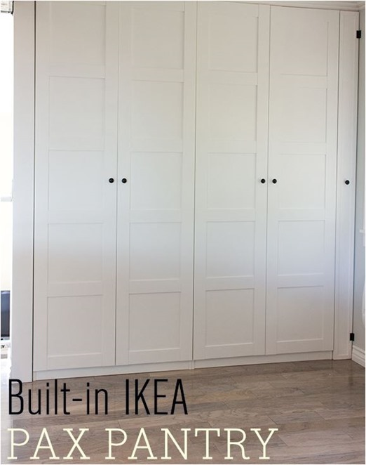built in ikea pax pantry